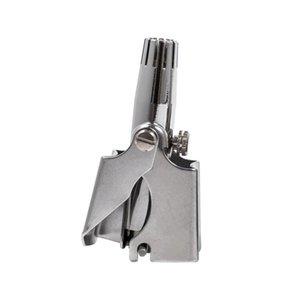 Nose Trimmer de pelo para los hombres nuevos de acero inoxidable manual cómodo portátil eliminación del dispositivo lavable pelo