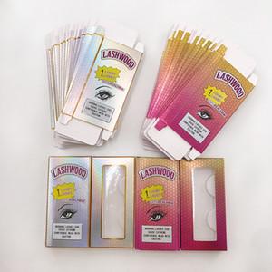 Полный Strip Lashes 3D норка Ресницы Розовый Lashwood Lash Коробки ручной работы Real норка с клиентами Lashwoods Случаи