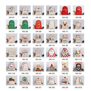 순록 FY4249와 크리스마스 선물 졸라 매는 끈 캔버스 산타 자루 크리스마스 대형 캔버스 Monogrammable 산타 클로스 졸라 매는 끈 가방