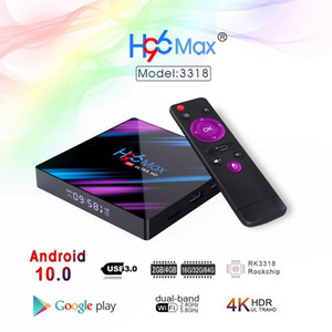 H96 Max Smart TV Box Android 10.0 RK3318 2G 16G USB3.0 1080P H.265 60fps Google Voice Assitant 4K Smart TVbox