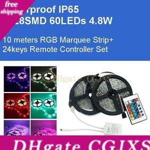 DC12V 10m Marquee flexível Tiras Rgb 3528SMD 600leds 48w Kit Luzes Led 2a adaptador IP65 Waterproof Lâmpadas diretos Shenzhen, China grosso