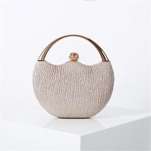 2020 Women Moon Shaped Evening Bags Purses and Handbags Wedding Women Clutch Fashion Wallets Drop Shipping