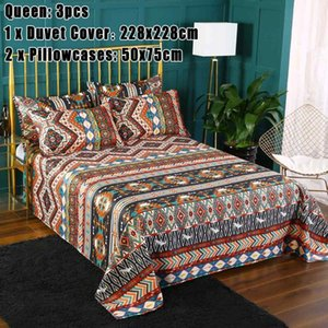New 3PCS set Bohemian Ethnic Style Bedding Set Twin Full Queen King Duvet Cover Pillowcase bed sheet bedroom decor Home Textile