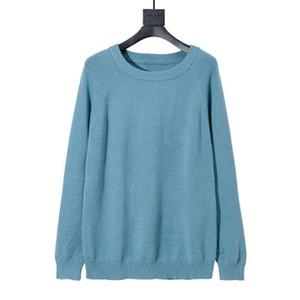 Новая зима Вязание рубашка пуловер Мужчины свитер Мода Вышивка O шею свитер с длинным рукавом Мужчины Женщины трикотажные свитера фуфайки Размер XS-L