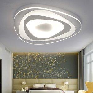 Ultrathin Triangle Chambre Salon plafonniers lumières pour la salle de sala lustrés Décoration acrylique moderne plafonnier LED Lustre