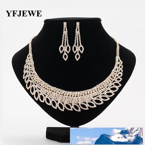 Korean Bride Necklace Two Paper Set Ornaments Rhinestone Bride Marry Earrings Wedding Dress Accessories Marry Set Chain