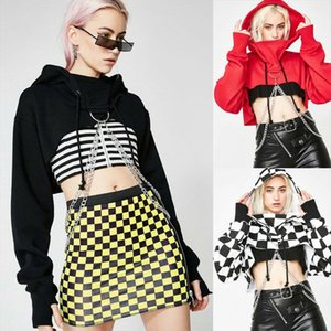 Women Long Sleeve Crop Tops Pullover O Neck Blouse Ladies Hoodies Jumper Casual Crop Top Pullover Gothic Tops