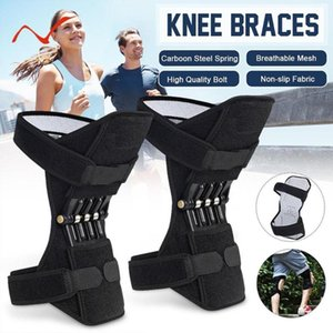 1pair Knee Joint Support Knee Pads Spring Force Joint Protection Power Lift Support