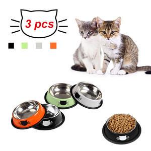 3 PCS Cat Bowls Dishes Kitten Bowl Pet's Food Water Bowls with Non-Slip Rubber Base Pet Bowls Feeding Tool for Cats and Puppies