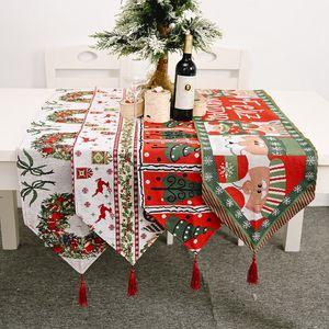 Yeni Noel Masa Bayrakları Merry Christmas Masa Örtüsü Dekorasyon Ev Noel Masa Mat Noel ağacı Noel Baba Elk Masa Örtüsü DBC BH4032