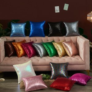 15.74*15.74inch Sequins Pillowcase Home Multicolor Pillow Case Zipper Pillow Cover Double Face Envelope Bedding Pillow Cover A589