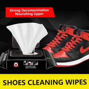 12 / 30pcs Chaussures à usage unique Clean lingettes Chaussures blanches portable de nettoyage Soins de lingettes Chaussures de sport nettoyage rapide Lingettes humides