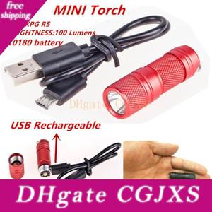 Usb перезаряжаемые светодиодный фонарик фонарик XPG R5 Супер Мини светодиодный брелок из нержавеющей стали фонарик 10180 литиевая батарея
