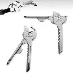 Phillips und Schraubenzieher Flaschenöffner 6 in 1 Folding Mini-Messer-Multifunktionsschlüssel Haken Außen Taschen-Minimesser DHD935