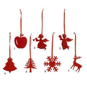 10pcs Árvore de Natal vermelha do ornamento de suspensão Decoração Rótulo Ornament Set Natal Pendente Holiday Party,