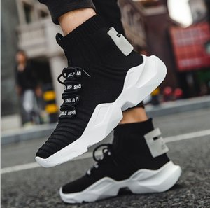 Spring Autumn Fashion Socks Sneakers Men Shoes Chunky Dad Shoes Men Knit Breathable Walking Sneakers No-Slip krasovki