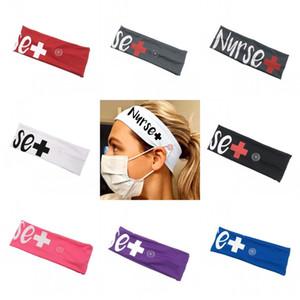 Infirmière Bandeaux avec bouton de masque mode Bandeau élastique Hairs Ties Accessoires cheveux Bandeau Scrunchie fille femmes 4 77jy C2