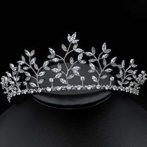jankelly Fashion Ladies Wedding Headpieces With cube zircon Wholesale Bridal Hair Accessories Headdress Bridal Hair Tiaras