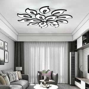 Iralan Moderne Acryl Kroonluchter Wit Zwart Leds Voor Woonkamer Slaapkamer Led Grote Kroonluchter Thuis Lustres Verlichtingsar