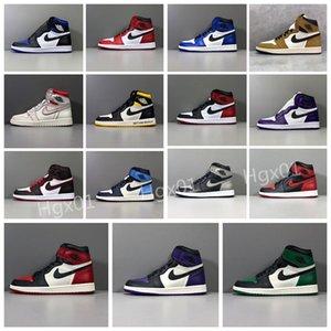 2020 Top SnakeskinJordanRetro 1 Milan Mid Basketball Chaussures Designer aj1s Paris Low Hommes formateurs Femmes Sport Chaussures 817519