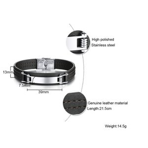 FXM E2 Stahlarmband der heiße Verkauf populärer Armband Mann einzelnes Stahlmaterial 20cm Echtlederarmband
