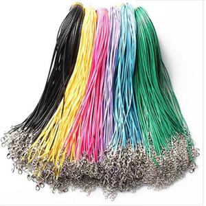 Collana di serpente in pelle cera Collana perline cordina corda corda corda filo catena a catena con chiusura aragosta diy gioielli economici