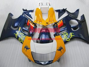 Fairings parts for yellow white blu Honda 97 CBR 600 F3 98 CBR600 F3 1997 1998 ABS motorcycle fairings kit bodywork cowlingsTank cover+gifts