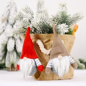 HAPPYXMAS 2020 presentes de Ano Novo Gnome Handmade de Natal sueco Figurines decoração do feriado Faceless alta qualidade boneca de Natal Xmas bonito