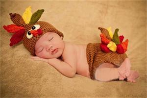 Турция Дизайн костюм Мальчики Hat и Пеленка набора для новорожденных младенцев крючка Эпикировки Новорожденных фотографий реквизит Трикотажного Photo Studio
