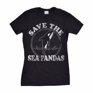 2019 Новый бренд Fashion Street одежда T-Shirt Одежда женская Сохранить Море панды Смешные кит Orca Дельфин Ocean Life Tee Shirt