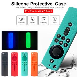 Luminosa Silicone Case antiurto copertura per incendio TV Stick 4K / Fuoco TV (3a generazione) / Cube Voice Telecomando