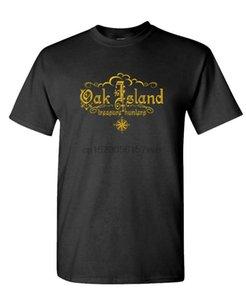 الصيادون البلوط جزيرة الكنز - للجنسين القطن تي شيرت المحملة القميص