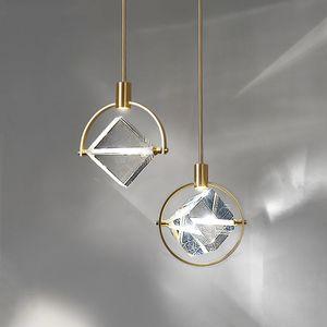 Postmodern Crystal Kitchen Hanging Lights Nordic Restaurant Dining Room Bar Luxury Led Pendant Lights Fixtures Indoor Hanglamp