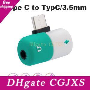 2 in1 USB di tipo C a 3 0,5 millimetri audio Jack per cuffie Cavo di ricarica USB Adapter -C Converter per Xiaomi Huawei