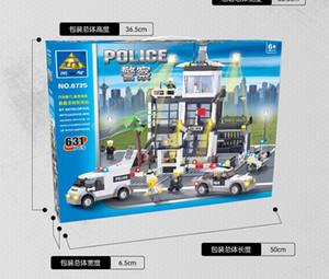 Blocos de construção Brinquedo Kid Police Station Puzzle Monte Alta Qualidade Bloqueio Brinquedo Boy And11