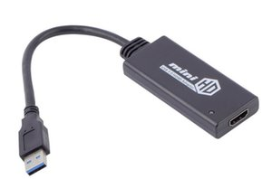 USB 3.0 To HDMI Video Cable Adapter Converter Male to Female HD 1080P For PC Laptop TV