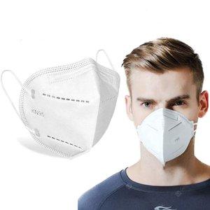 оптовые KN95 маски одноразовой Нетканые KN95 Складной Половина маска Ткань пыл ветрозащитного Респиратор Anti-Fog пыл Открытого маски
