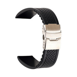 Women Men Unisex Silicone Watchstrap 20mm 22mm 24mm Soft Silicone Sports Waterproof Watch Band