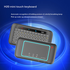 Mini Wireless Keyboard With Backlit Mini Touchpad Air Mouse Infrared Tilt Remote Control For Andorid BOX Smart TV Windows