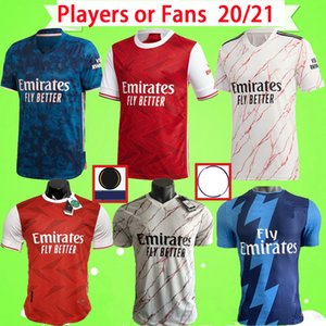 Arsenal Fußballtrikot Spielerversion 2020 2021 Fans Version Fußballtrikot Heimrot Auswärts Weiß Drittes Blau TIERNEY 20 21 Herren Fußballtrikots PEPE Camiseta de Futbol