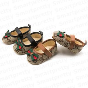 Çizgili Bow Prewalkers Grils Tuval Ekose Bebek Yenidoğan Bebekler Kaymaz Yumuşak İlk Yürüyenler Ayakkabı E32802 ile Bebek Bebek Tasarımcılar Ayakkabılar
