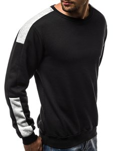mens designerEuropean size large fleece arm color matching personalized sports sweater men
