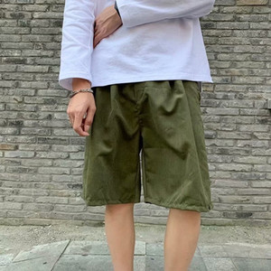 Summer Brand New Men's Casual Shorts Cotton Short Pants for Men Pure Color Drawstring Knee Length Beach Short Slacks Size 2XL
