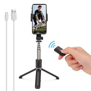 One-axis Handheld Mobile Phone Stabilizer Anti-Shake Tripod With BT Remote Control Selfie Stick Photography gimbal smartphone