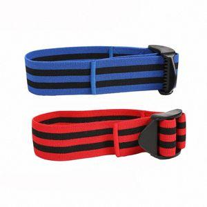 Uno Band Coppia BFR Bands Formazione occlusione del flusso sanguigno restrizione muscolari cinghie Braccia Gambe crescita senza sollevamento pesi pesanti HuJd #