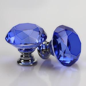 Ручка Screw Мода 30мм Diamond Crystal Glass дверные ручки выдвижных ящиков корпусной мебели Ручка Ручка Винт Мебельная фурнитура LJJA2594