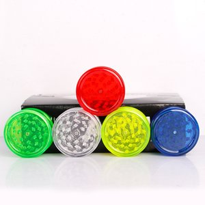 Molinillos de humo de tabaco de 60 mm Grinder de plástico 3 LayerTransparent plástico Mills dientes encajan amoladoras coloridas para el humo Accesorios GGA3624-3