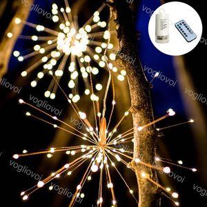 LED 문자열 Fireworks 120LEDS 180LEDS 200LEDS 컨트롤러와 함께 8mode 옥외 안뜰 크리스마스 장식 DHL에 대 한 여러 가지 빛깔의