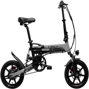 Suspensão G100 LANKELEISI G100 14 polegadas Folding Electric Bike 400W Motor completa