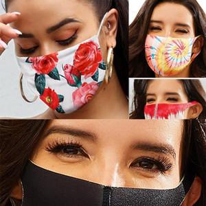 Mascarilla Sequin Camo Sliders Designer Face Masks Butterfly Flower Drogan Dustproof Ear-mounted Mask Rose Hot Style Reuseable Face Mas Wxum